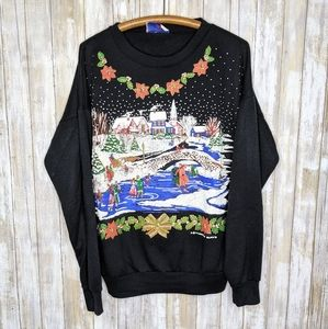 Vintage Christmas Holiday Crewneck Winter Snow
